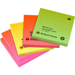 MARBIG BRILLIANT NOTES REPOSITIONABLE 75 X 75MM ASSORTED PACK 5