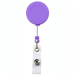 REXEL BADGE REEL SOFT TOUCH PURPLE