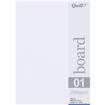 QUILL BOARD 200GSM A5 WHITE PACK 50
