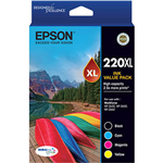 EPSON 220XL INK CARTRIDGE HIGH YIELD VALUE PACK 4