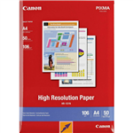 CANON HR101 HIGH RESOLUTION PHOTO PAPER 106GSM A4 WHITE PACK 50