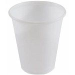 DISPOSABLE PLASTIC CUP WHITE 180200ML PACK 50 7035519