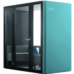 D POD 24 PERSON OFFICE POD TURQUOISE