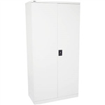 INITIATIVE STATIONERY CUPBOARD 3 SHELVES 1830 X 910 X 450MM WHITE CHINA