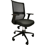ONYX II TASK CHAIR MEDIUM MESH BACK WITH ARMS BLACK