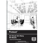 PROTEXT VISUAL ART DIARY WITH PP COVER 110GSM 120 PAGE A3