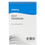 INITIATIVE SPIRAL NOTEBOOK SHORTHAND TOP BOUND 200 X 127MM 300 PAGE