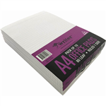 WRITER BANK PAD RULED 50GSM 80 SHEETS A4 WHITE
