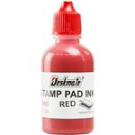 DESKMATE STAMP PAD INK REFILL 30ML RED