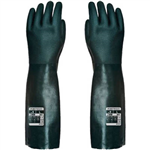 PORTWEST A845 DOUBLE DIPPED PVC LONG GAUNTLET GREEN XL