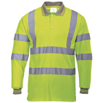 PORTWEST S277 HIVIS POLO SHIRT LONG SLEEVED