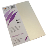 QUILL METALLIQUE PAPER 120GSM A4 MOTHER OF PEARL PACK 25