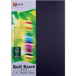QUILL XL MULTIBOARD 210GSM A4 BLACK PACK 100