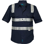 PRIME MOVER MS909 COTTON DRILL SHIRT SHORT SLEEVE WITH TAPE OVER SHOULDER