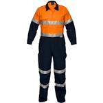 PRIME MOVER MA931 REGULAR WEIGHT COVERALL WITH METAL STUD CLOSURE AND TAPE 2 TONE