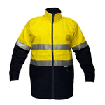 PRIME MOVER MJ998 HI VIS JACKET COTTON DRILL DAYNIGHT ZIP CLOSURE