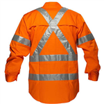 PRIME MOVER MX301 COTTON DRILL SHIRT LIGHTWEIGHT WITH CROSSBACK TAPE