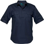 PRIME MOVER MC905 COTTON SHIRT SHORT SLEEVE LIGHTWEIGHT CLOSED FRONT