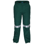 PRIME MOVER MW705 COTTON DRILL STRAIGHT LEG PANT INTERNAL POCKETS WITH REFLECTIVE TAPE